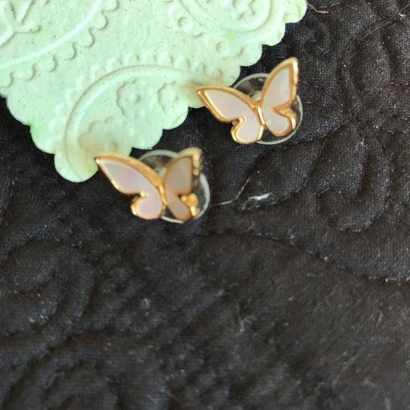 kate spade Jewelry - Kate Spade ♠️ blush enamel stud earrings !